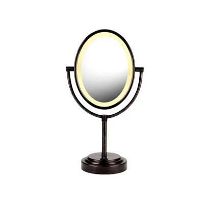 CONAIR BE47BR DOUBLE-SIDED LIGHTED MIRROR (OILED BRONZE)
