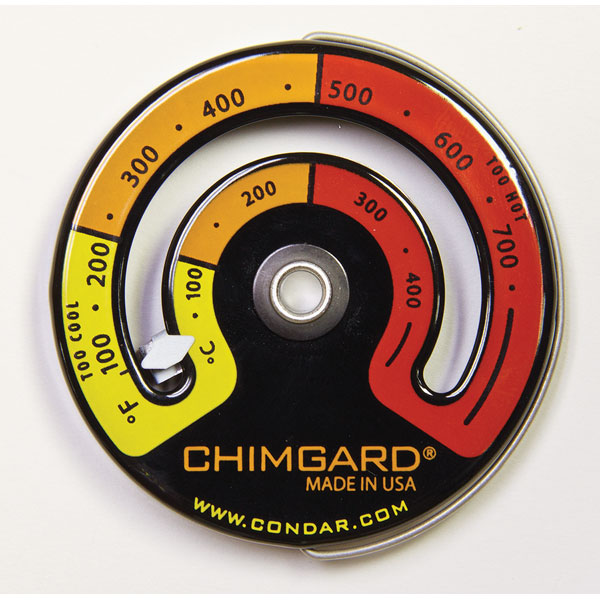 Chimguard Magnetic Stovepipe Thermometer - 3-4