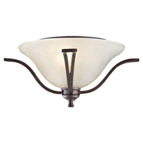 Ironwood 2-Light Flush Mount Ceiling Light, Brushed Bronze