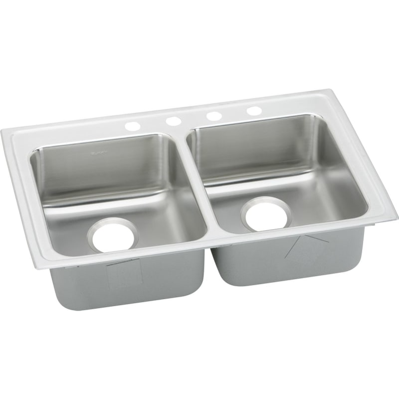 33X19X5-1/2 Three Hole Double Bowl ADA Sink Stainless Steel
