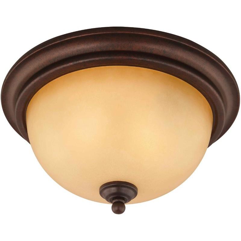 10-1134 2-Light Antique Bronze Ceiling Light
