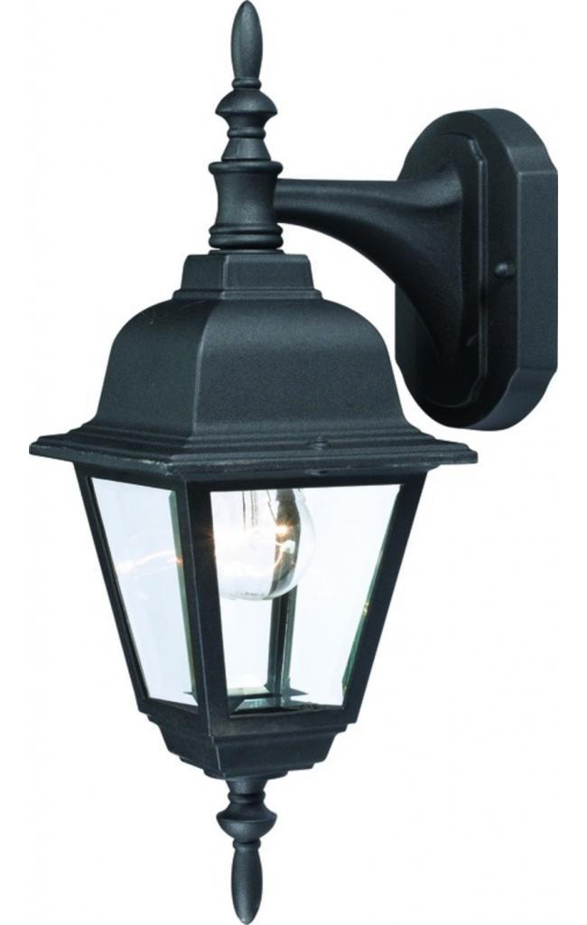 1 Light Coach Outdoor Lantern Lighting Fixture, Textured Black With Beveled Glass