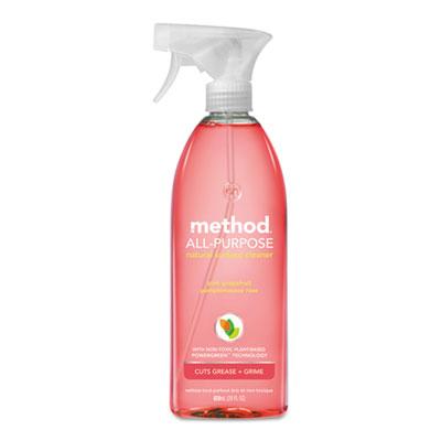 All Surface Cleaner, Pink Grapefruit, 28 oz Bottle, 8/Carton