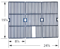 Gloss cast iron cooking grid for Broilmaster brand gas grills