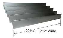 Stainless steel heat plate for Viking brand gas grills