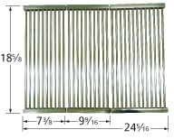 Stamped stainless steel cooking grid for Ducane brand gas grills