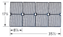 Gloss cast iron cooking grid for Brinkmann, Charmglow, Grillada brand gas grills