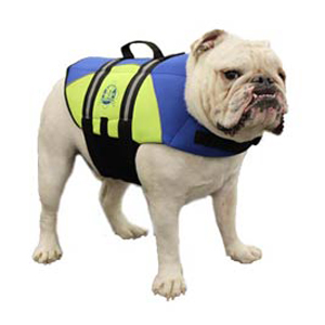 Neoprene Doggy Life Jacket M Blue/Yellow