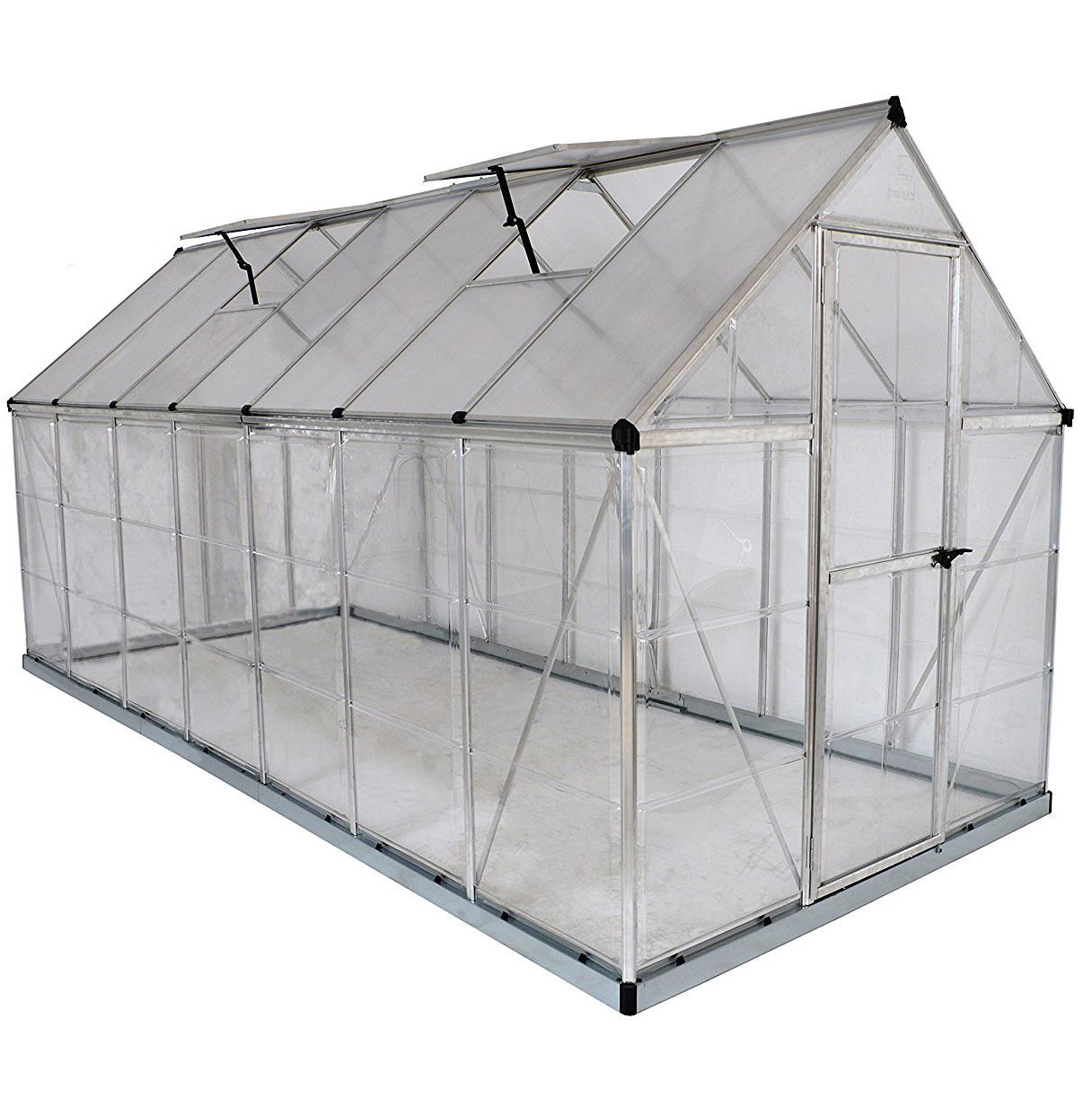 Palram - Canopia Hybrid 6' x 14' Greenhouse - Silver