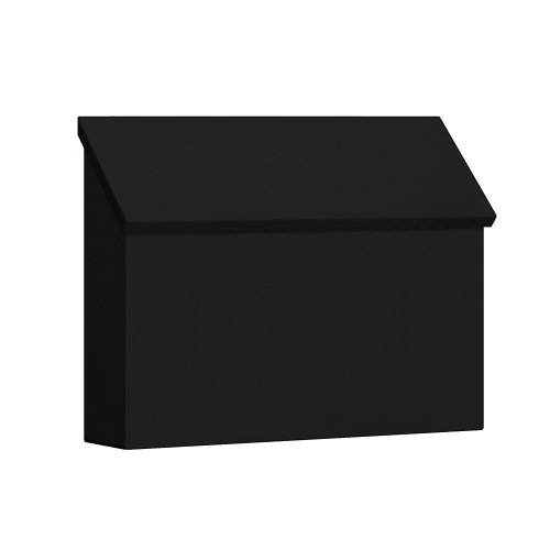 Traditional Mailbox - Standard - Horizontal Style - Black