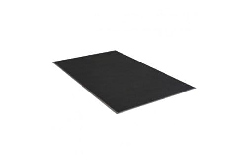 3' x 5' Plush Tuff Olefin Solids Mat Black